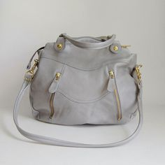 larch bag in cement gray : $309