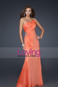 Floor Length Prom Dresses One Shoulder Chiffon $ 129.99 LDPC953K47 - LovingDresses.com