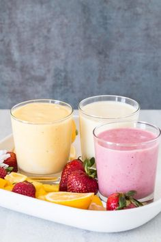 Yogurt protein smoothie 3 ways | Eat Good 4 Life Clean, easy, healthy and delicious. A perfect way to start the day!