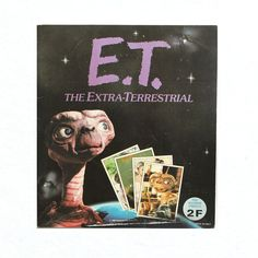 panini sticker album - I managed to collect all the stickers! And then you move a couple of times and things get lost. Et The Extra Terrestrial, Aliens And Ufos, 80s Kids, Cool Stickers, Studio City, Gremlins, Album, Trading Cards, Vignettes