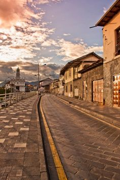 Cuenca - Ecuador -- I remember walking up this street almost daily.  So beautiful!