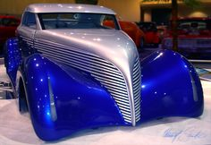 ❦ blue and silver custom hotrod by ~Z-Vincent on deviantART..Brought to you by #HouseofInsurance in #EugeneOregon