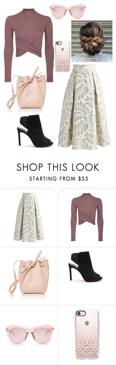 """""""Pinkish I guess"""" by laney-light ❤ liked on Polyvore featuring Chicwish, Topshop, Mansur Gavriel, Lola Cruz, Karen Walker and Casetify"""