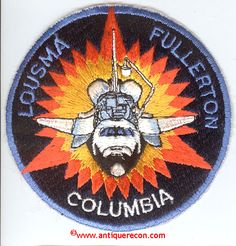 space mission patches   SPACE SHUTTLE COLUMBIA STS-3 MISSION PATCH