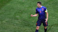Robin van Persie of the Netherlands celebrates scoring