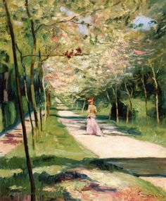 A Lane In The Park At Saint Cloud Artwork By Charles Camoin Hand-painted And Art Prints On Canvas For Sale,you Can Custom The Size And Frame Raoul Dufy, Henri Matisse, Maurice De Vlaminck, Saint Cloud, Color Secundario, Garden Of Earthly Delights, Georges Braque, French Artists, Love Art