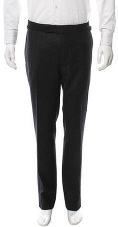 Tom Ford Wool Flat Front Pants Mens Dress Pants, Tom Ford, Sweatpants, Flats, Wool, Stylish, Fashion, Loafers & Slip Ons, Moda