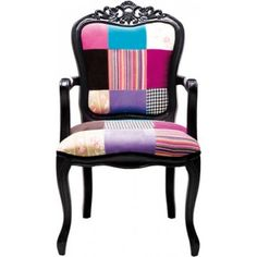 Chair with Armrest Elegant Patchwork Ikea Chair Cushions, Sofa Chair, Funky Furniture, Home Furniture, Furniture Design, African Interior Design, Fancy Chair, Patchwork Chair, French Chairs