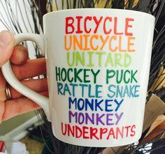Pick Me Cups Original Gibberish- monkey monkey underpants- Lorelai Gilmore mug- Gilmore Girls coffee mug- Gilmore Girls quotes by PickMeCups on Etsy