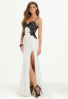 Jersey Dress With Illusion Lace Applique Deb Dresses 166044999c85