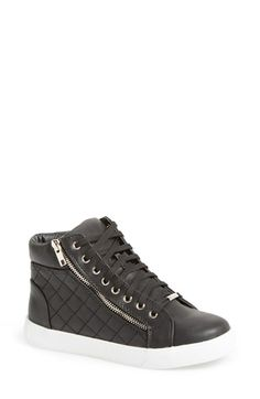 Free shipping and returns on Steve Madden 'Decaf' Quilted High Top Sneaker  (Women