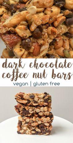 Dark Chocolate Coffee Nut Bars (Vegan, Gluten Free) | The Urben Life