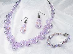 Glitz-n-Glam Jewelry Set   Artbeads.com - so sparkly and elegant