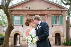 First Look at College of Charleston Cistern // Classic White + Gold Boone Hall Plantation Wedding // Charleston SC Wedding Photographer // Dana Cubbage Weddings