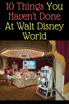 With everything to see and do at the parks, things can often be missed. Here are 10 things you haven't done at Walt Disney World (gold stars for every one that you have done): 1. Watch classic cartoons – In the back of Main Street Cinema in the Magic Kingdom is a large screen that shows classic cartoons. …
