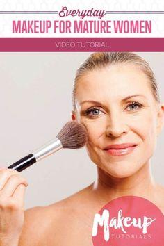 Natural Makeup Tips for Older Women Tutorial | Makeup Tutorials everyday-makeup-tutorial-for-mature-older-women