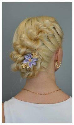 Aili punupatsid ja soengud, Freya hair jewellery - pancaked french rope braided updo
