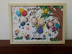 Worli Painting, Stone Art Painting, Texture Painting On Canvas, Pebble Painting, Stone Crafts, Rock Crafts, Arts And Crafts, Pebble Art Family, Rock Painting Patterns