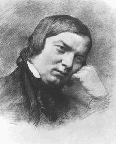 Robert Schumann (1810-1856), charcoal drawing (1859), by Eduard Bendemann (1811-1889).