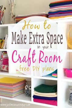 DIY Craft Room Storage - Lots of Ideas!