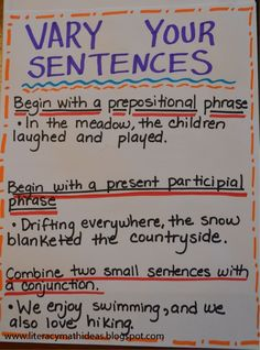 This blog post includes helpful teaching tips and free task cards to help students vary their sentences.