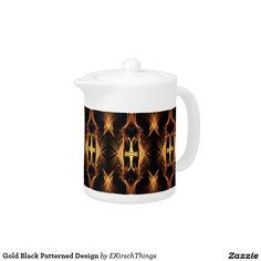 Gold Black Patterned Design