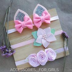 Felt Hair Bows, Felt Headband, Baby Girl Headbands, Baby Bows, Felt Flowers, Flowers In Hair, Fabric Flowers, Diy Ribbon, Ribbon Hair
