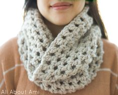 All About Ami - Chunky Double Crochet Cowl