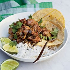 Pork-and-Green Chile Stew // More Tasty Pork Recipes: http://www.foodandwine.com/pork-recipes #foodandwine