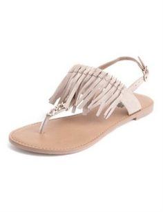 Fringe chain t-strap sandal, $24.50, Charlotterusse.com