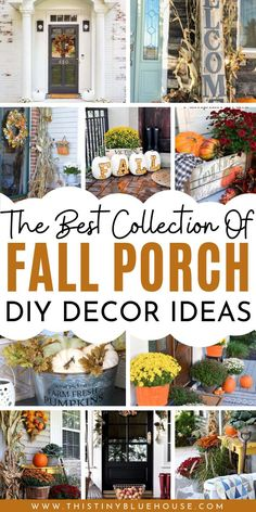 Glam up your front porch this autumn with one or a collection of these 40 gorgeous fall DIY porch decor ideas. These stunning porch ideas are guaranteed to make your porch stand out in your neighborhood. Care Skin Condition and Treatment Oil Makeup Fall Home Decor, Autumn Home, Diy Porch, Porch Ideas, Fall Diy, Porch Decorating, Autumn Decorating, Fall Wreaths, Making Ideas