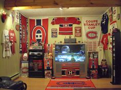 Habs fan room