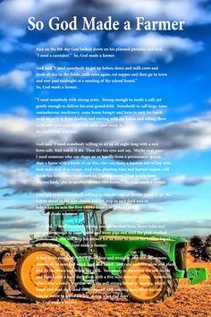 So, God Made a Farmer Poem Poster 19