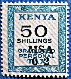 Kenya Graduated Personal Tax Revenue 50shs 1966