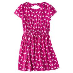 02de345e55169 Cherokee® Girls  Challis Dress - Vivid Pink Cat Dresses