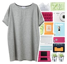 """""""Shoebox Memories"""" by fashionlover2157 ❤ liked on Polyvore featuring NIKE, OtterBox, Nintendo, Burt's Bees, NARS Cosmetics, CO, Pier 1 Imports, Christy and H&M"""