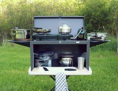 Outdoor Kitchen DIY toolbox hack. [#outdoors cooking camping]