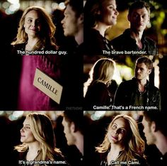 Cami and klaus when they first met ♡
