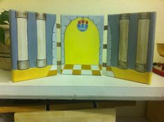Presentation in the Temple triptych from St Mary's Cathedral in Amarillo. Painted by Sister Bernadette.
