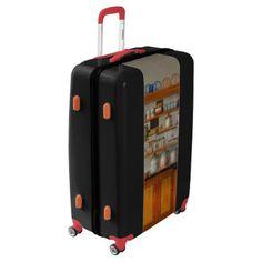 Beautiful Ruby Red Dahlia Fractal Lotus Flower Luggage - diy cyo personalize design idea new special Light Luggage, Pink Luggage, Custom Luggage, Vintage Luggage, Carry On Luggage, Luggage Suitcase, Personalized Luggage, Dahlia