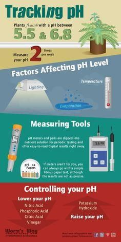 Infographic on Track     Infographic on Tracking your pH  #hydroponics