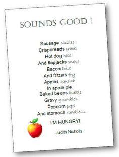 Comptine anglaise nourriture