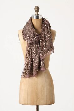 I have so many scarves, yet none of them are sparkly.... does that justify another purchase?!