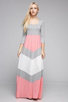 Why I Love You Chevron Maxi Dress