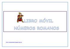 Libro móvil numeros romanos. En color.