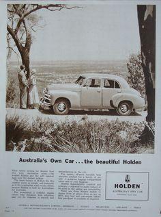 Australian Vintage, Australian Cars, Holden Australia, Victoria Australia, Collage Vintage, Vintage Posters, Bus Engine, Road Transport, Car Advertising