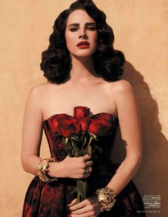 Image result for lana del rey with roses