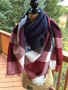 blanket scarf oversized women's scarf long by ColoradoChickCo