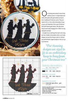Oh Holy Night From Cross Stitch Collection N°268 November 2016 2 of 3