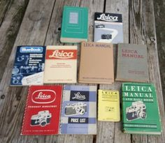 LEICA Camera Price List Guide Data Product Pocket Book Manual Lot